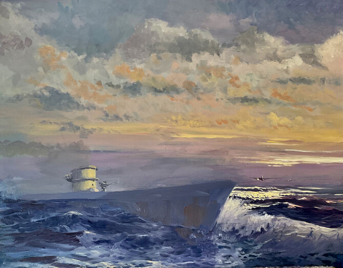 U Boats Aviation Art WW2 Acrylic and Oil painting