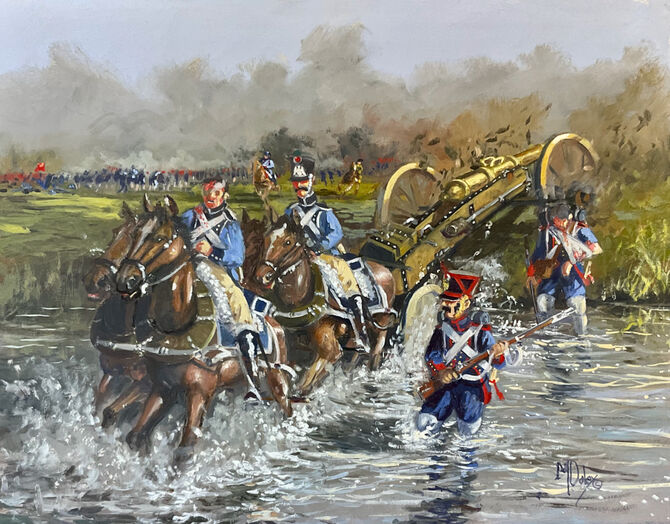 Napoleonic Army, French Napoleonic horse artillery Oil Painting Military art