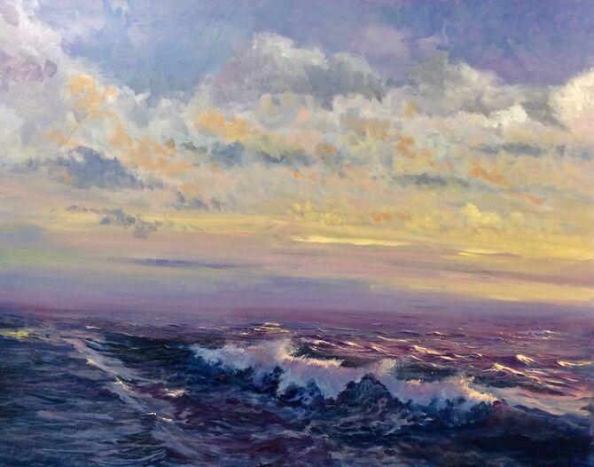 seascape painting acrylic painting ocean painting marine art