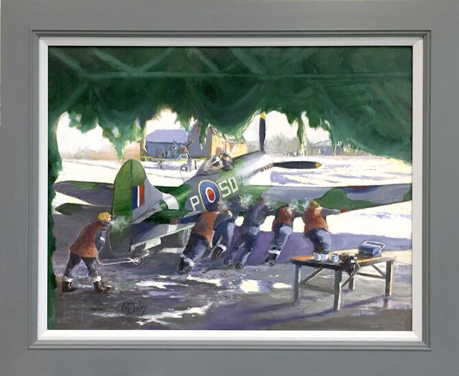 Hawker Typhoon. WW 2 aviation art, Aviation Art, Acrylic painting.