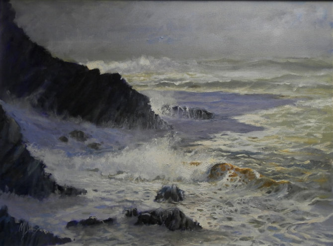 Off Hartland Point - after the storm  Available at Cotswold galleries email cotswoldgalleries@gmail.com