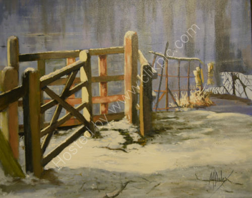 SOLD The Kissing Gate - Holkham Lake