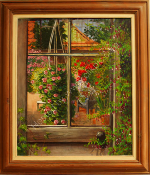Through the Greenhouse Door  SOLD