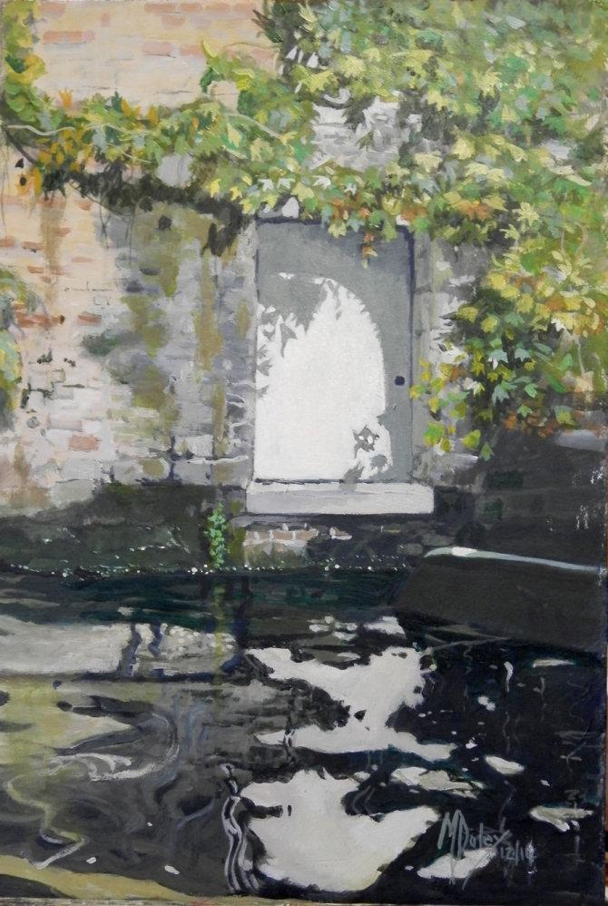 Bruges - The White Door - SOLD