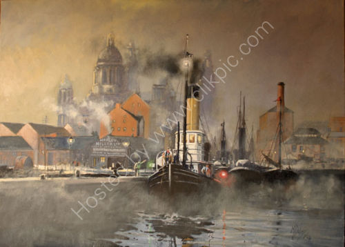 Canning Dock Liverpool circa 1907  SOLD
