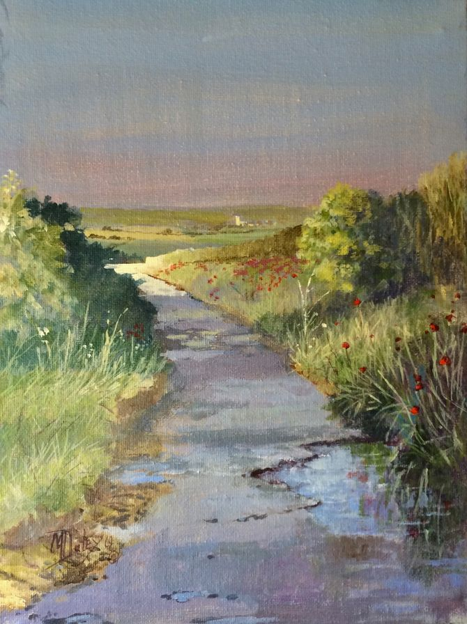 Byway North Norfolk   Acrylic on canvas 10 x 8 inches.