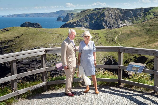 Royal visit to Tintagel Castle.