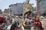 Kathmandu, Nepal earthquake aftermath.