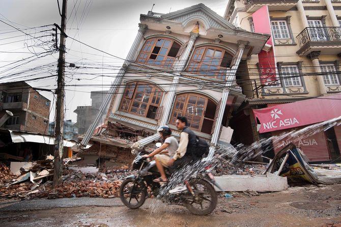 Nepal earthquake aftermath.