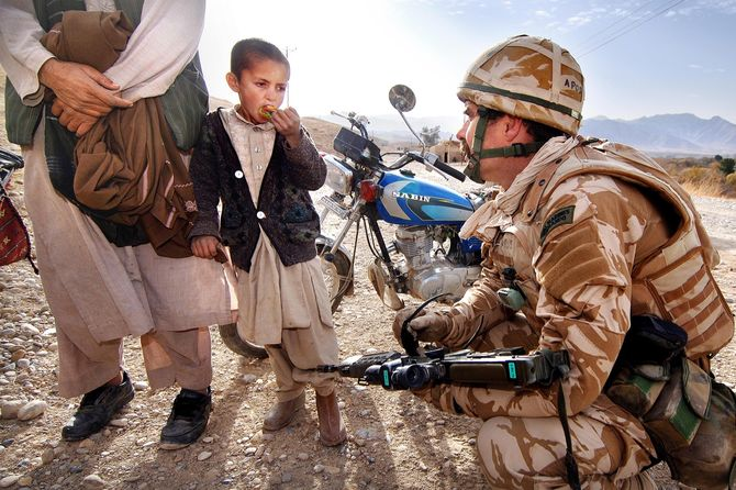 On assignment in Kajaki. Afghanistan.