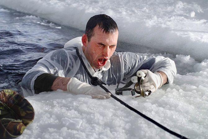 Arctic warfare training.