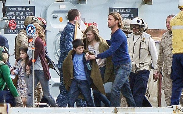 Brad Pitt filming for World War Z