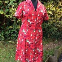 bespoke poppy design dress