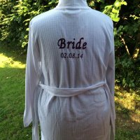 personalised embroidery on a client's own garment