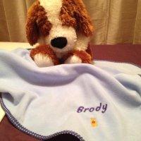 personalised baby name blanket