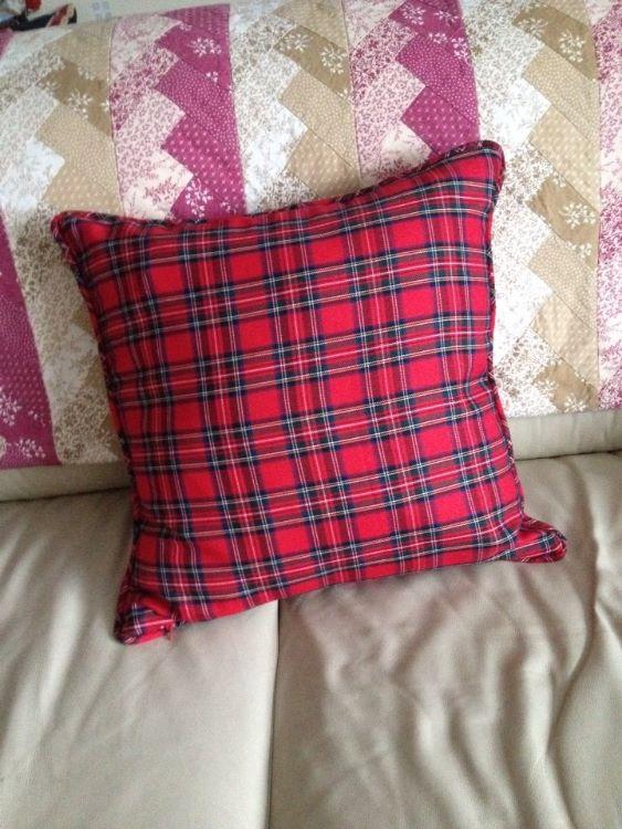 tartan cushion back
