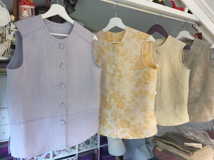 Vintage linen vest tops