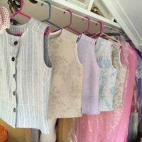 Vintage linen vest tops for customer bulk order