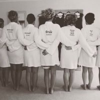 Bridal group dressing gowns