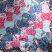 pattern repeat detail on applecore quilt