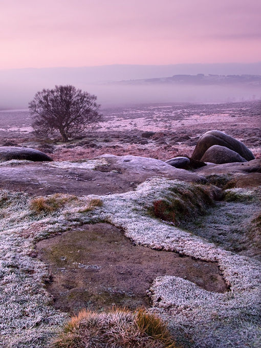 Frosty morning at Owler Tor