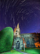 Hathersage church star trail