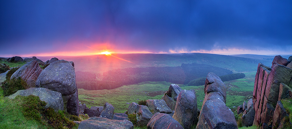 Sunrise over Burbage from Higger Tor
