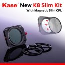 Kase K8 Kit - K100-X 100mm system holder - including 86mm magnetic polarising filter and adaptor rings