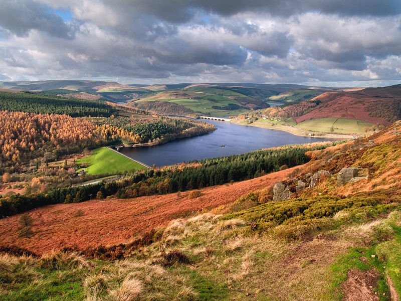 Ladybower Reservoir from Bamford Edge Derbyshire