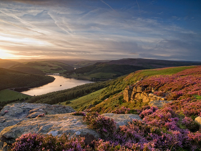 Sunset over Ladybower Reservoir