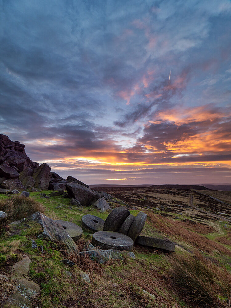 Stanage millstones at Sunrise