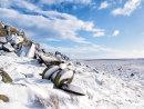 Stanage millstones in winter.