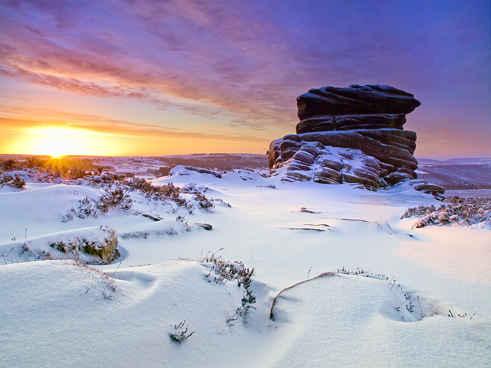 Winter sunrise over Mother cap