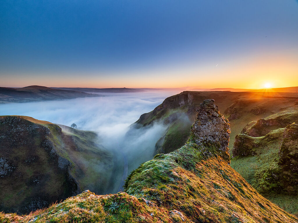 Winnats inversion sunrise
