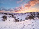 Winter sunrise over Cressbrook Dale