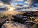 Fleeting light over Stanage