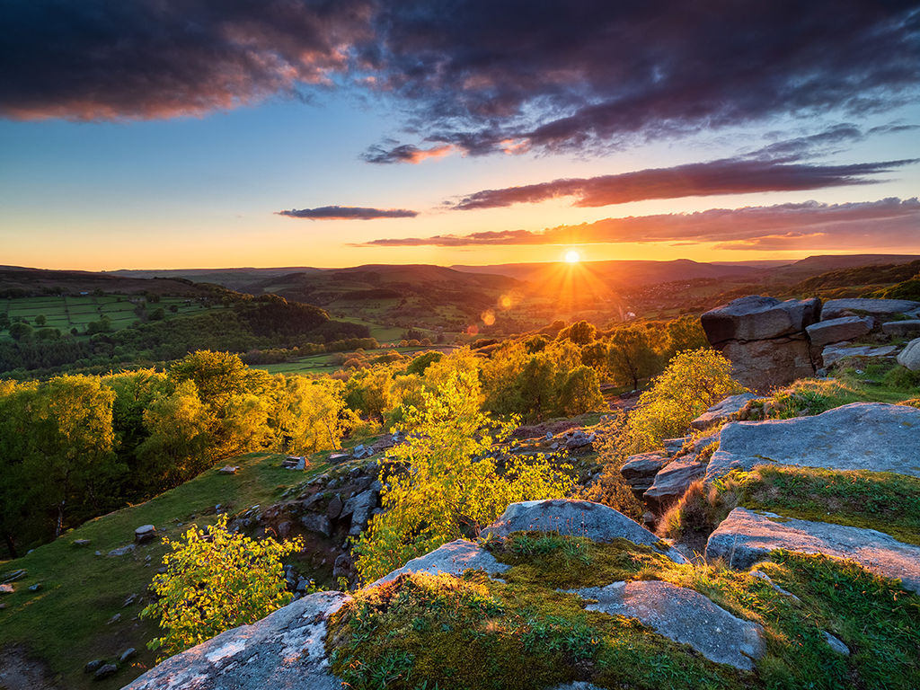 Spring sunset at Surprise View