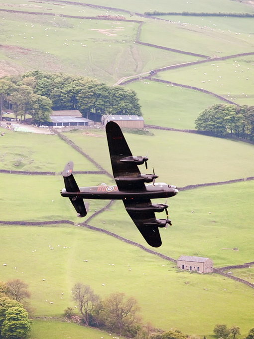 Lancaster over Derwent