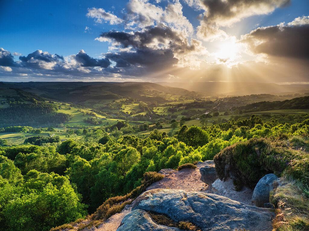 Breaking light over the Hope Valley