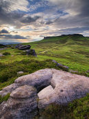 Looking up to Higger Tor
