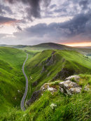 Evening light over the Winnats Pass