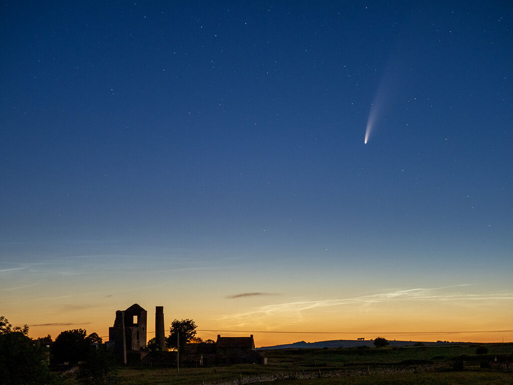 Neowise comet over Magpie Mine