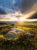 Breaking light from Over Owler Tor
