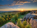 Summer sunset on Birchen Edge