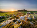 Sunset over Higger Tor from Carl Wark