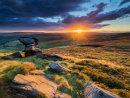 Dove stone sunset