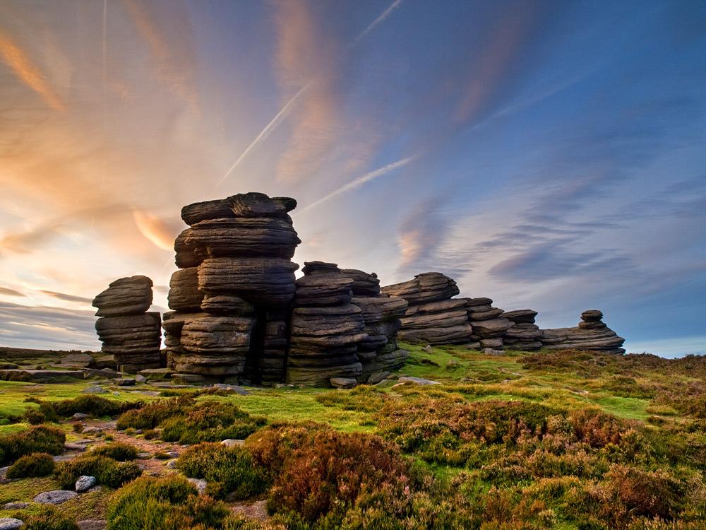 Wheel Stones sunset