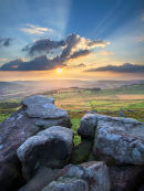 Summer sunset at Over Owler Tor