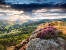 Breaking light over the Hope Valley from Millstone Edge