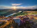 Summer sunset over Ladybower